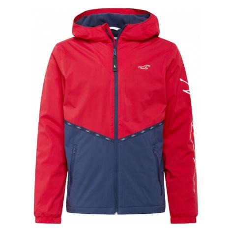 HOLLISTER Prechodná bunda  námornícka modrá / červená