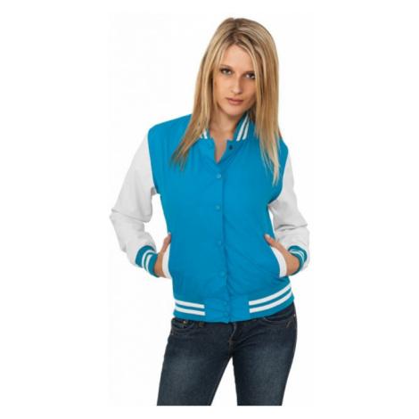 Urban Classics Ladies Light College Jacket tur/wht - Veľkosť:XS