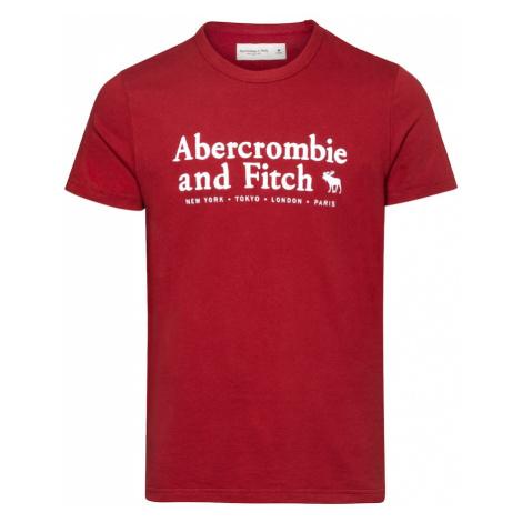 Abercrombie & Fitch Tričko  biela / červená melírovaná