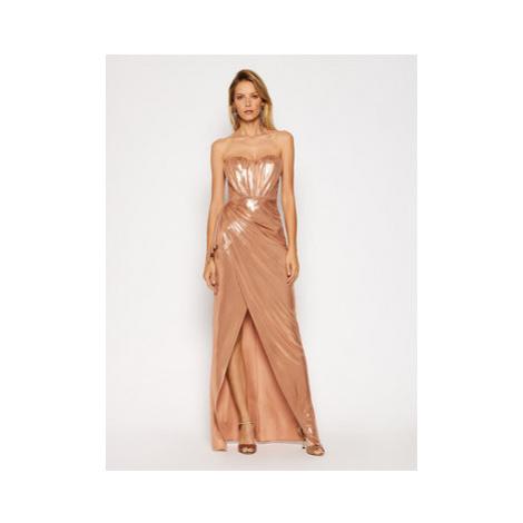 Elisabetta Franchi Večerné šaty AB-093-07E2-V489 Zlatá Slim Fit