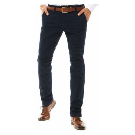 Elegantné nohavice v granátovej farbe DStreet
