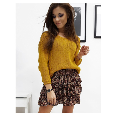 Dámsky moderný horčicový sveter my0707