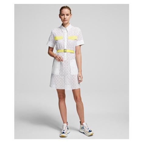 Šaty Karl Lagerfeld Karl Broderie Anglais Dress