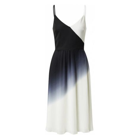Chi Chi London Kokteilové šaty 'Almie'  biela / tmavomodrá