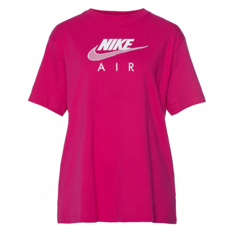 Nike Sportswear Tričko  fuksia / biela