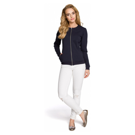 Made Of Emotion Woman's Jacket M240 Navy Blue