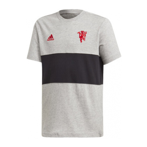 Detské Tričko Adidas Manchester United Fc Šedo-Čierne