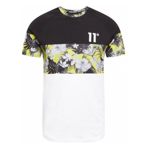 11 Degrees Tričko  biela / čierna / žltá