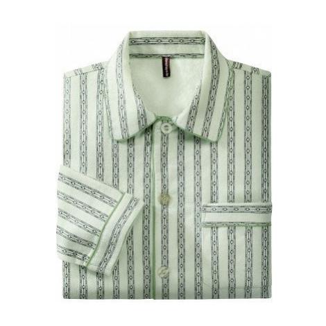Blancheporte Klasické pyžamo, flanel zelená