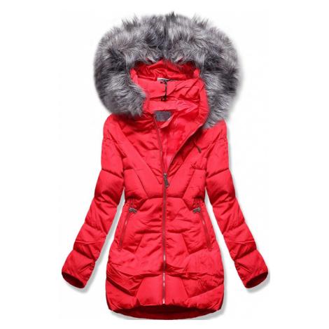 MODOVO Zimná bunda s kapucňou červená