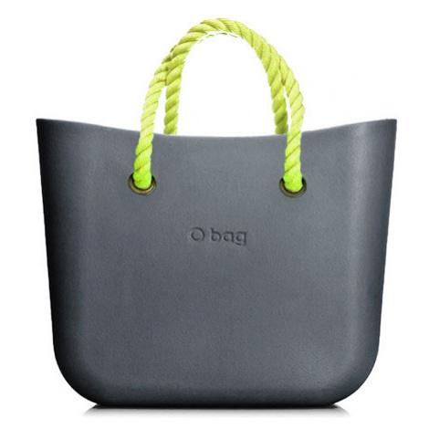 Obag mini grafite s krátkym povrazom neon yellow O bag