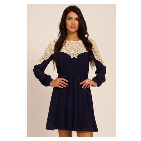Panelové šaty s dlhým rukávom Little Mistress