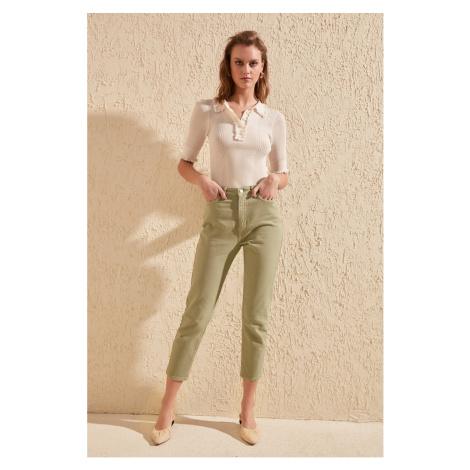 Trendyol Khaki High Waist Mom Jeans