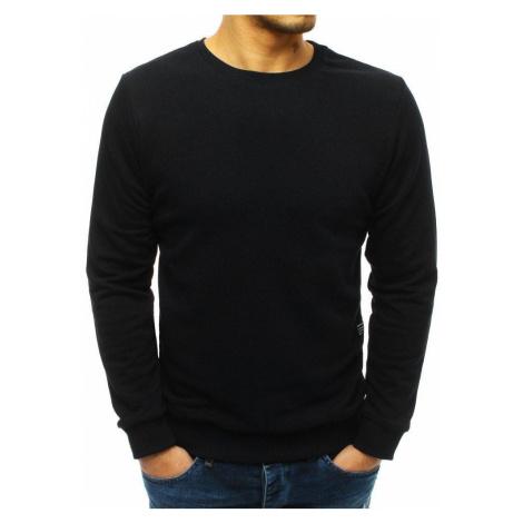 Pohodlná pánska mikina čierna bx3910