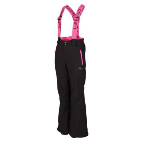 Lewro NUKA ružová - Detské lyžiarske nohavice