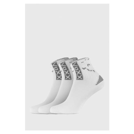 3 PACK športových ponožiek Codex biela VoXX
