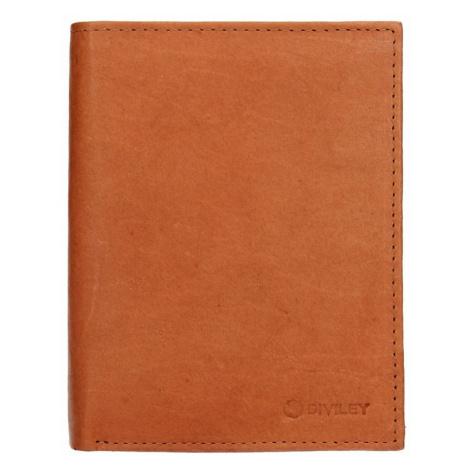 Pánska kožená peňaženka Diviley Levin - svetlo hnedá