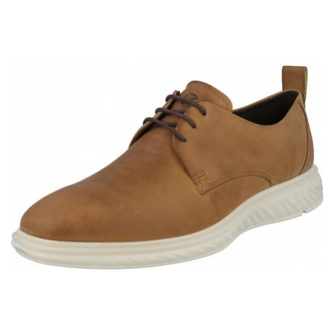 ECCO Šnurovacie topánky  svetlohnedá