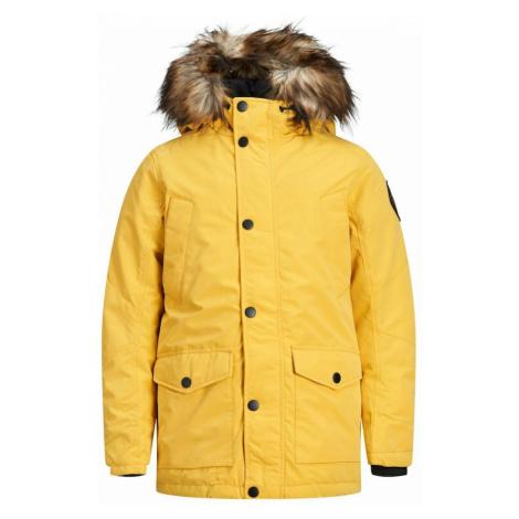 Jack & Jones Junior Zimná bunda  žltá