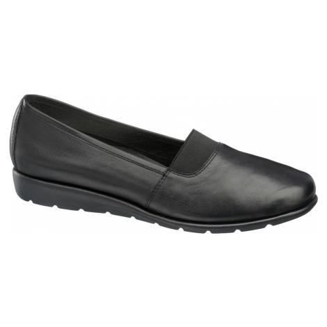 Medicus - Čierna kožená komfortná slip-on obuv Medicus