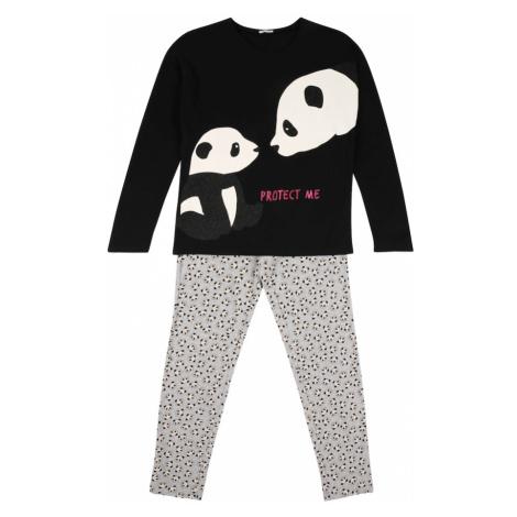UNITED COLORS OF BENETTON Pyžamo  čierna / biela