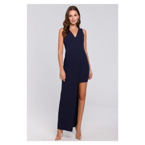 Tmavomodré šaty K026