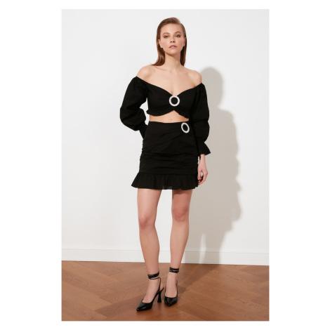 Trendyol Black Accessory Detailed Skirt