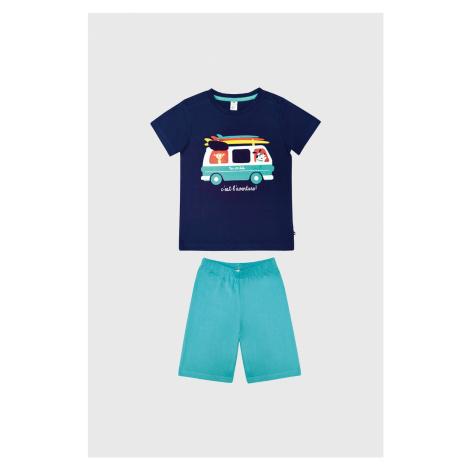 Chlapčenské pyžamo Bus modrá