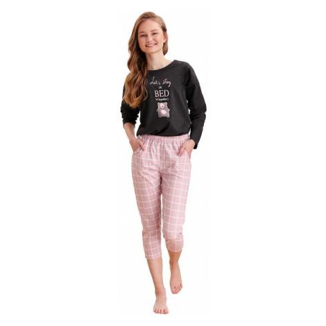 Dievčenské pyžamo Molly tmavo sivé Taro