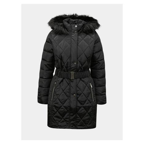 Čierny zimný prešívaný kabát Dorothy Perkins