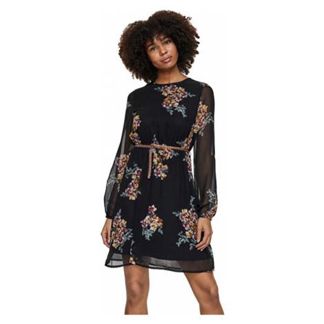 Vero Moda Dámske šaty VMNEWALLIE BELT Black ALLIE