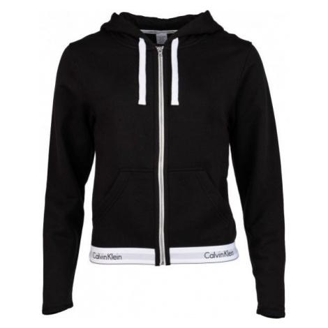 Calvin Klein TOP HOODIE FULL ZIP čierna - Dámska mikina
