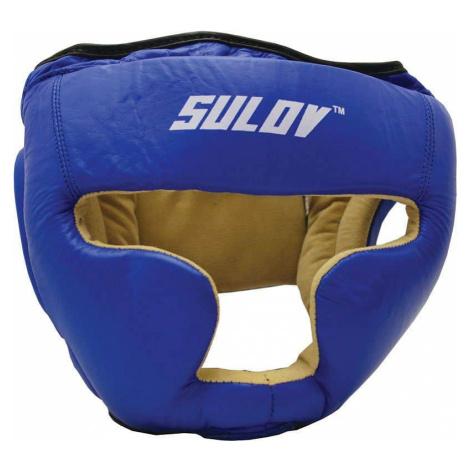 Chránič hlavy uzavřený SULOV, kožený, modrý Box