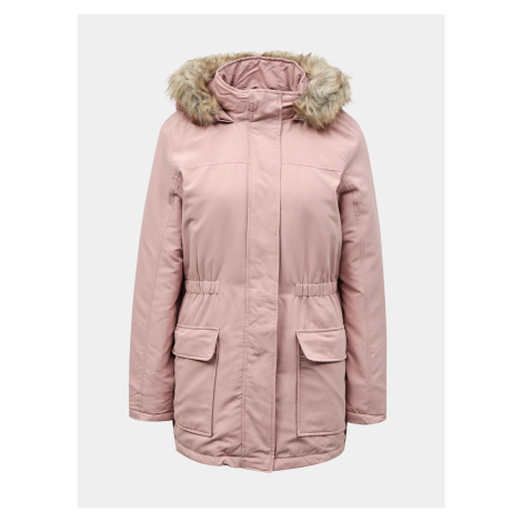 Jacqueline de Yong ružové zimné parka