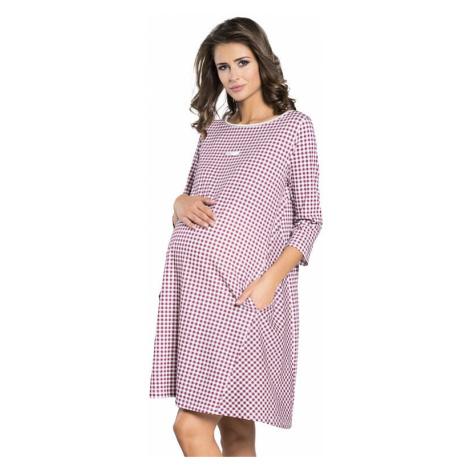 Tehotenská nočná košeľa Venta s vreckami Italian Fashion
