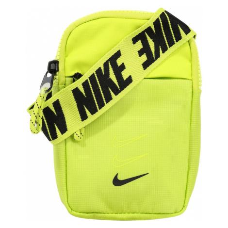 Nike Sportswear Taška cez rameno 'Advance'  čierna / neónovo žltá