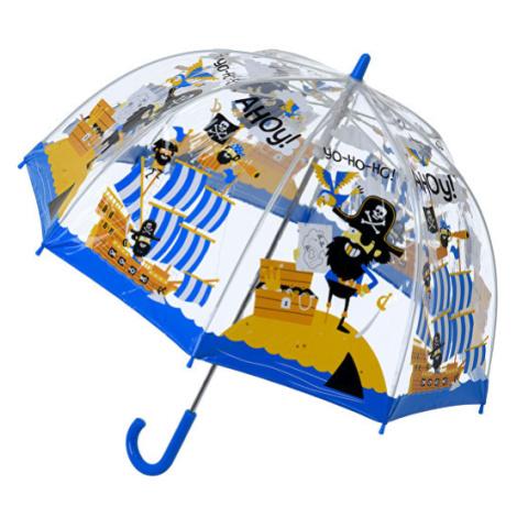 Blooming Brollies Detský priehľadný palicový dáždnik Pirate Umbrella SBUPIR