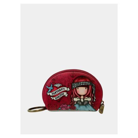 Červená vzorovaná malá peňaženka Santoro Santoro London