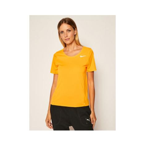 Nike Funkčné tričko City Sleek CJ9444 Oranžová Standard Fit