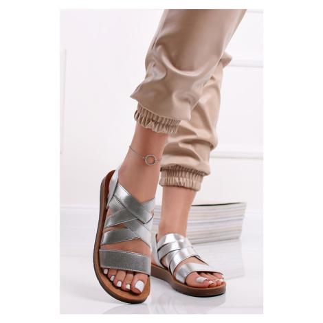 Strieborné nízke sandále Dalary Belle Women