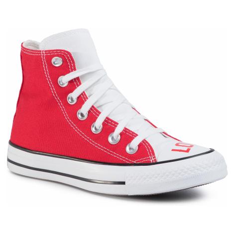 Tramky CONVERSE - Ctas Hi 567310C White/University Red/Black