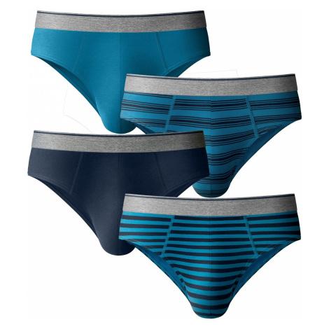 Blancheporte Zatvorené slipy s nízkym pásom, sada 4 ks modrá tyrkysová