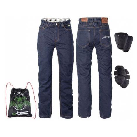 Pánske moto jeansy W-TEC Resoluto Farba modrá