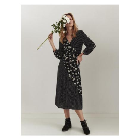 Midi šaty s mix vzorem Top Secret