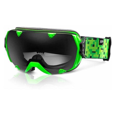 Spokey RED ROCK lyžařské brýle zelené
