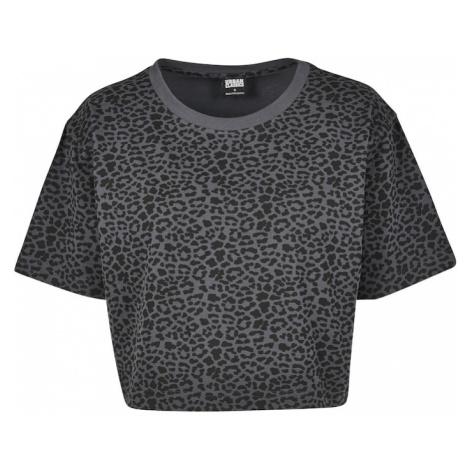 Urban Classics Tričko  čierna / sivá