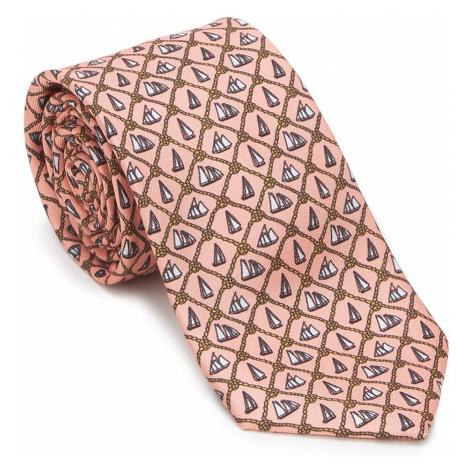 Lososová kravata so vzorom Wittchen