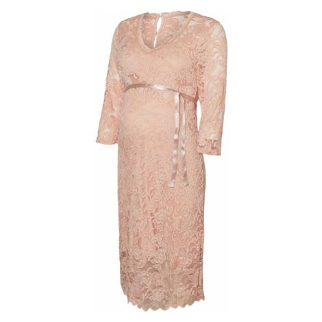 MAMALICIOUS Kokteilové šaty  ružová Mama Licious