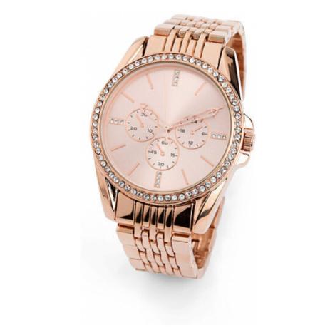 Kovové náramkové hodinky so Swarovski® krištáľmi bonprix