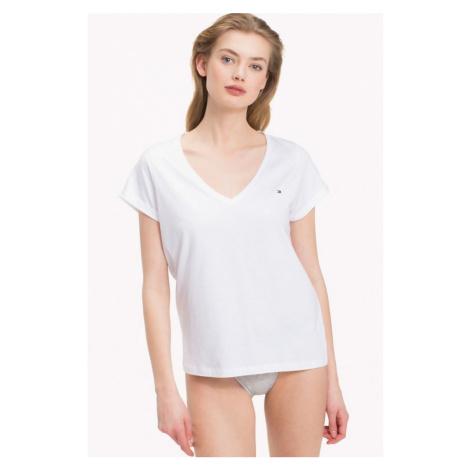 NEW! Tommy Hilfiger V-neck tričko - biele